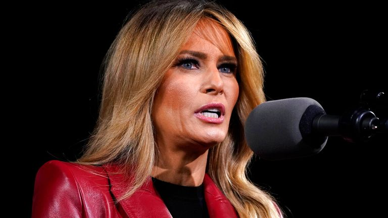 Melania Trump said she said been targeted in 'personal attacks' since the Capitol riot