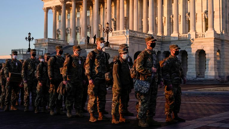 Members of the National Guard have been arriving in Washington