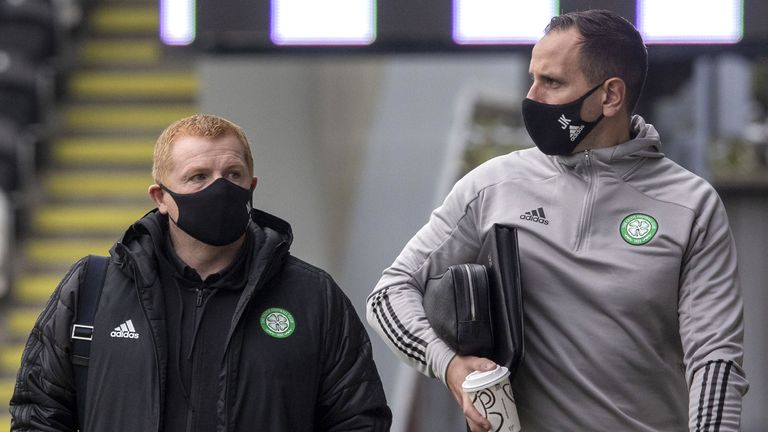 Manager Neil Lennon and assistant manager John Kennedy