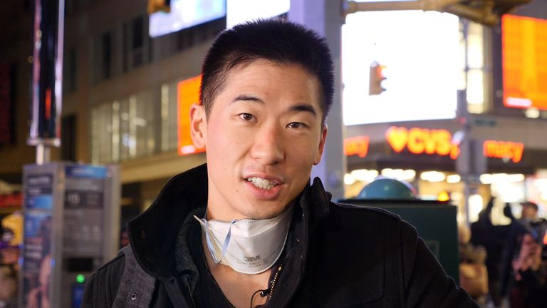 Dr Calvin Sun has been volunteering to give COVID-19 tests in Times Square