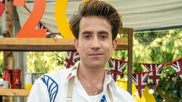 Nick Grimshaw is taking part in The Great Celebrity Bake Off. Pic: Channel 4
