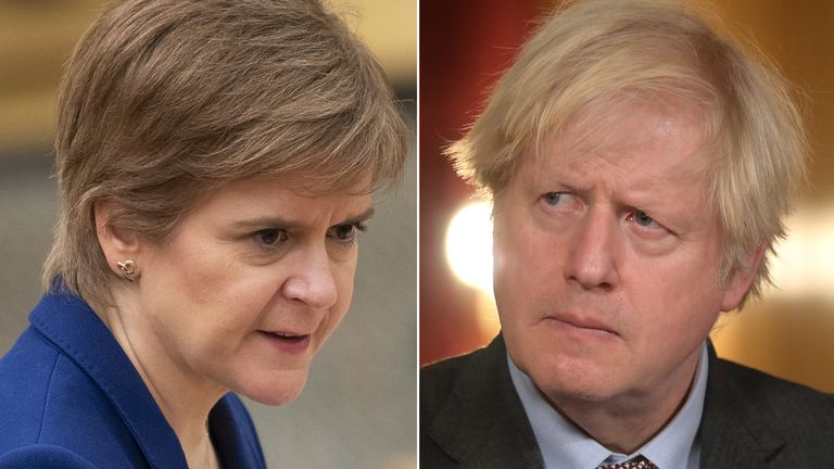 Nicola Sturgeon and Boris Johnson