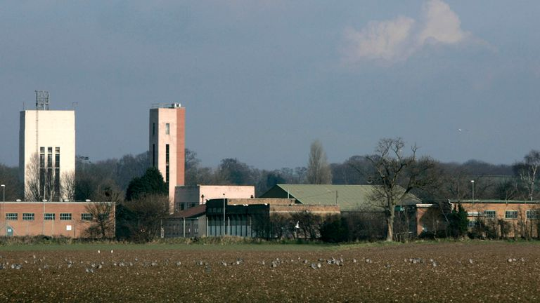 A general view shows RAF Coltishall in Norfolk in eastern England February 7, 2007. The former RAF base will be transferred to the Home Office who plan to create a new immigration removal centre it was announced on Monday. REUTERS/Luke MacGregor (BRITAIN)