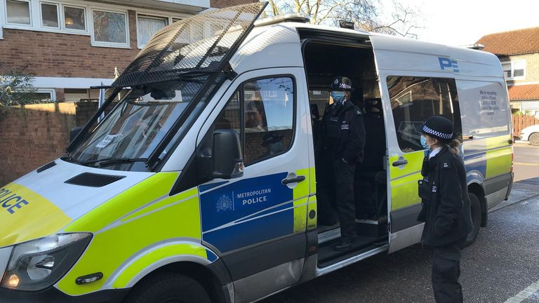 Officers from Hackney's Violence Suppression Unit