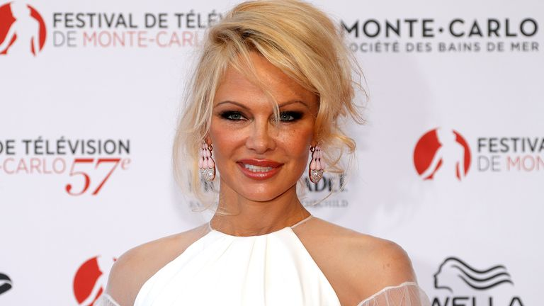 Actress Pamela Anderson attends the opening ceremony of the 57th Monte-Carlo Television Festival in Monaco