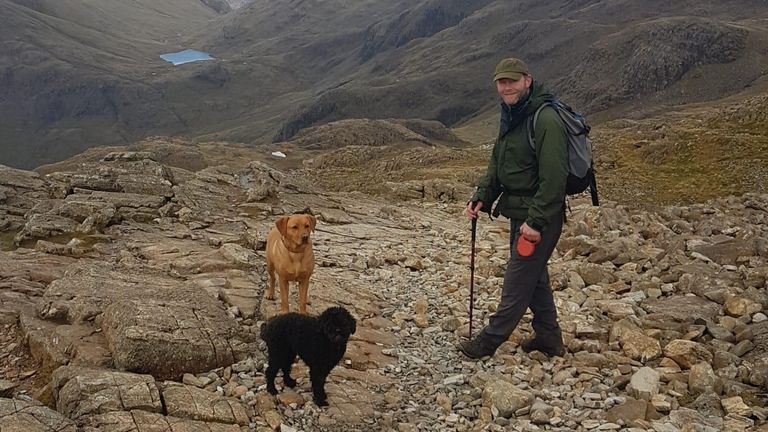 Paul Hilditch on Scafell Pike in November, only a few weeks before he died