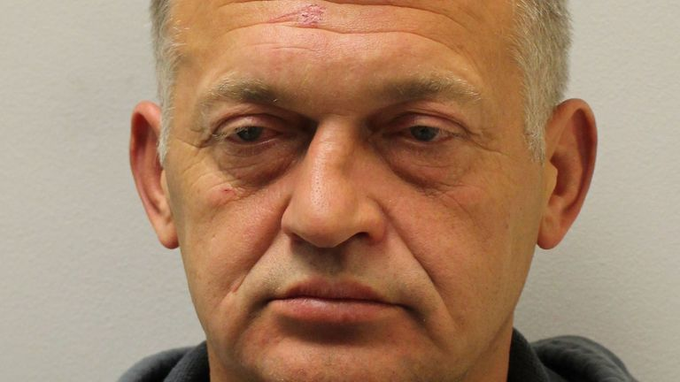 Undated handout photo issued by the Metropolitan Police of 50-year-old Petras Zalynas, originally from Lithuania, who is wanted over the death of a woman whose body was found in a suitcase, as he is believed to have fled to Europe, detectives said.
