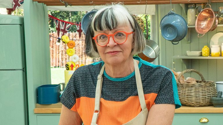 Philippa Perry is taking part in The Great Celebrity Bake Off. Pic: Channel 4