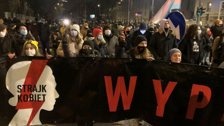 In Poland, around2,000 legal terminations are performed each year but an estimated 200,000 women have abortions illegally or travel abroad for the procedure. Pic: AP