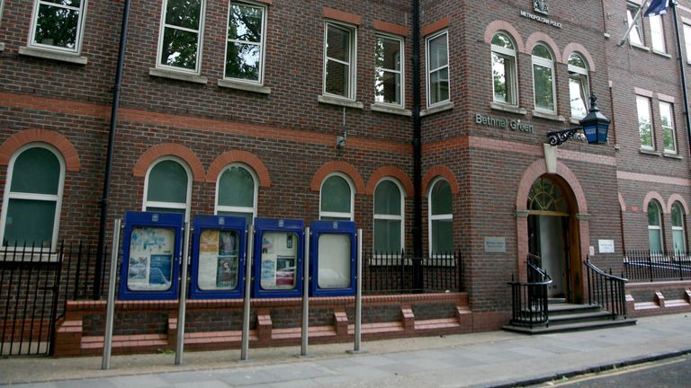 Bethnal Green Police Station. File pic