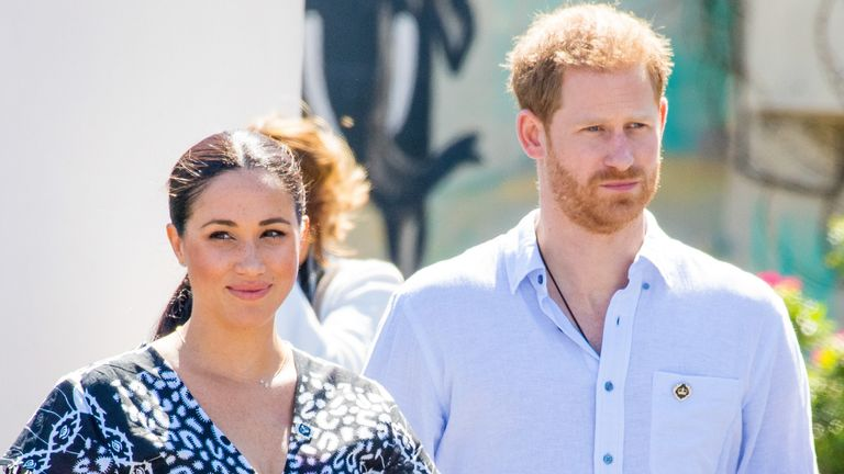 Prince Harry and Meghan Markle, Duke and Duchess of Sussex soon to be available devastating biography �Finding Freedom: Harry & Meghan and the making of a modern royal family' claims they felt shunned by the Royal Family. The Royals moved to LA with their son Archie, where they this week sued unknown paparazzi for taking illegal 'drone' pictures of their son Archie at their California home. (Photo by DPPA/Sipa USA)