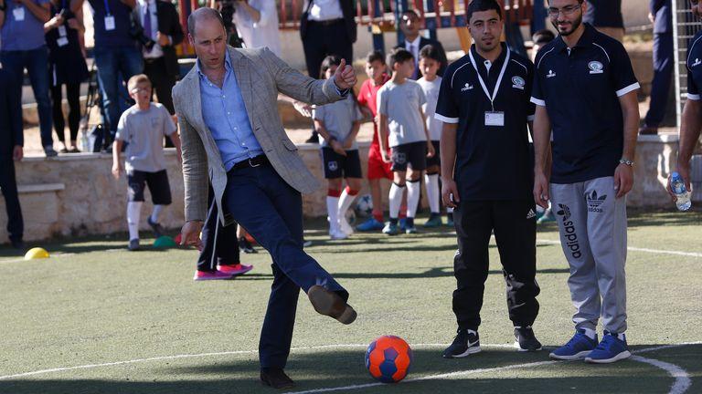 Prince William is a keen football fan