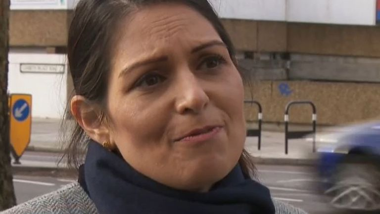 Priti Patel says police database is being fixed