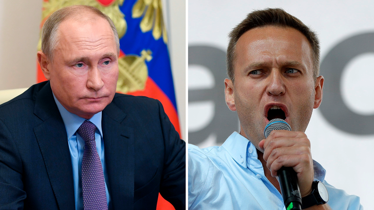 Putin says Navalny isn't an enemy. Pic: Associated Press