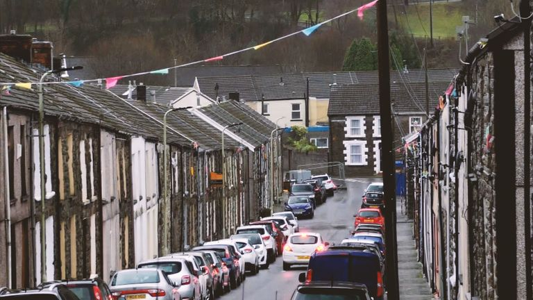 Tight-knit communities in Rhondda Cynon Taf live close together in terraced houses