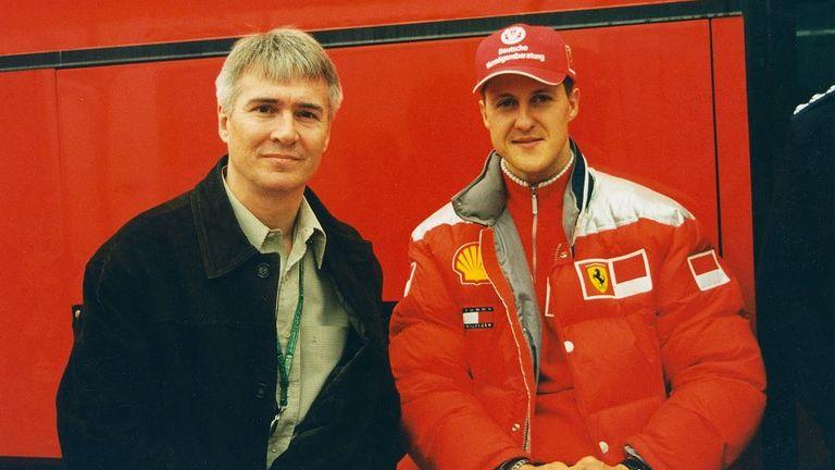 Michael Schumacher and Dr Bill Ribbans