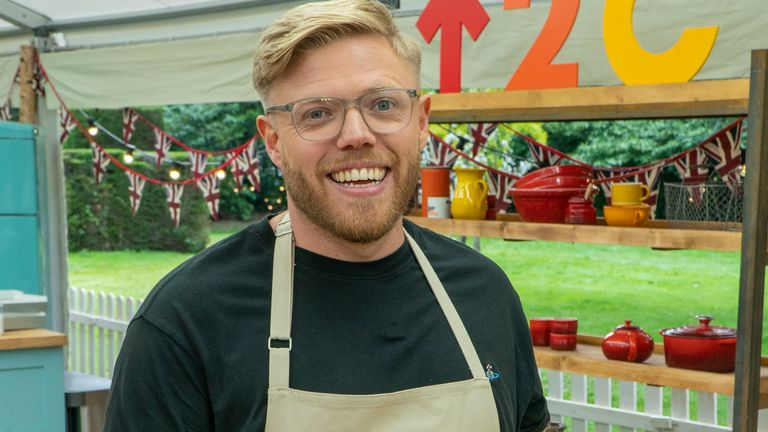 Rob Beckett is taking part in The Great Celebrity Bake Off. Pic: Channel 4