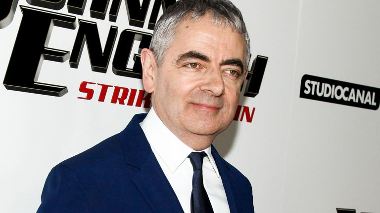 "Rowan Atkinson attends a special screening of ""Johnny English Strikes Again"" at AMC Loews Lincoln Square on Tuesday, Oct. 23, 2018, in New York. (Photo by Andy Kropa/Invision/AP)"