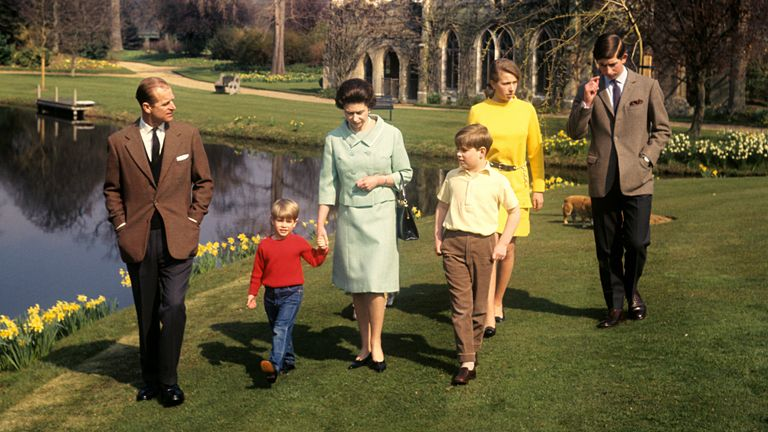 The royal family are pictured together in 1968. File pic