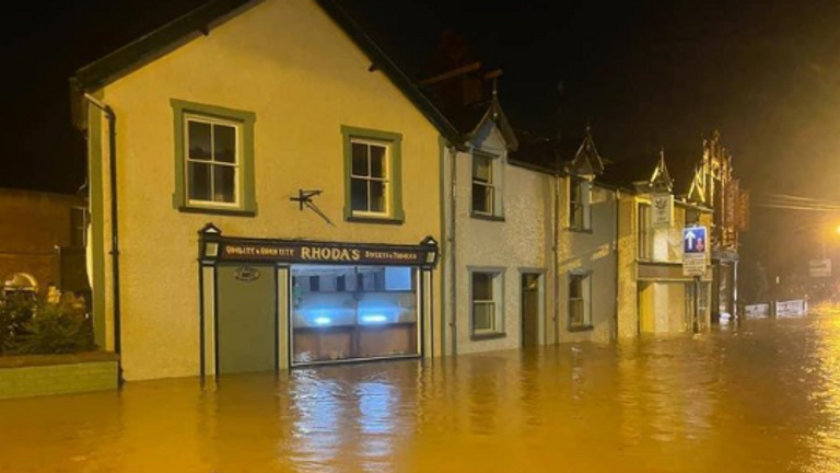 Ruthin flooding: Pic: North Wales Police