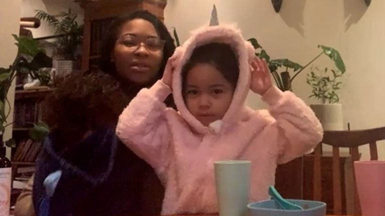 Four-year-old Akua Corson misses seeing her friends