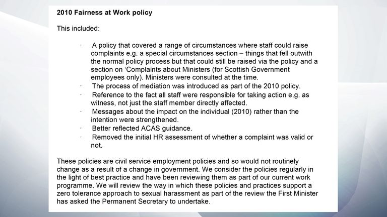 Scottish government email chain