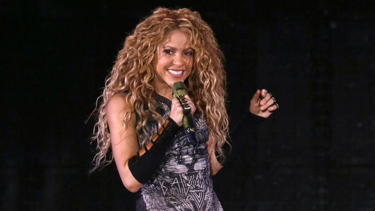 Shakira performs in concert at Madison Square Garden on Friday, Aug. 10, 2018, in New York. Pic: Greg Allen/Invision/AP
