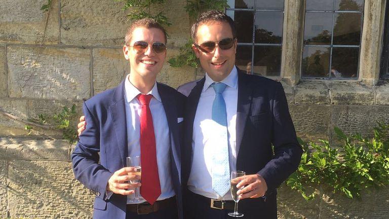 St Dunstan's headteacher Nick Hewlett (R) and his husband Alberic Elsom