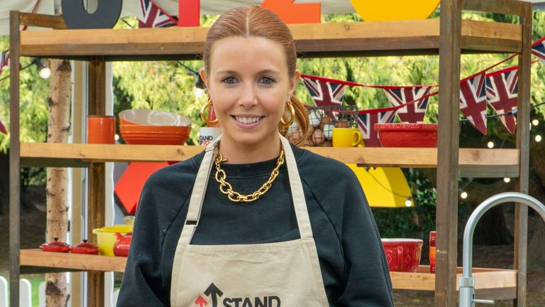 Stacey Dooley is taking part in The Great Celebrity Bake Off. Pic: Channel 4
