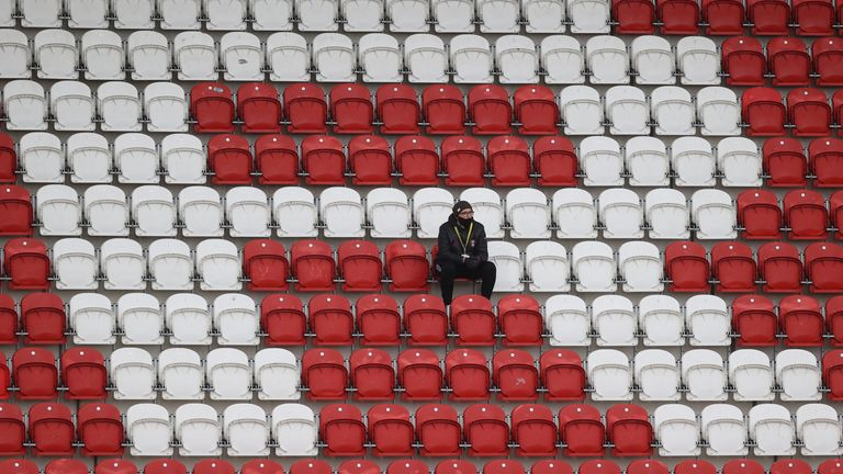 Many fans have now been shut out of stadiums for nearly a year
