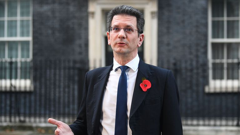Member of Parliament for Wycombe in Buckinghamshire, Steve Baker in Downing Street London