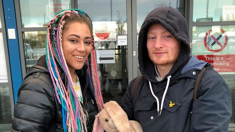 Tyra Desir, 20, and Reece Green, 23 had been staying in temporary accommodation in a nearby hostel, and were evacuated with several other residents around 5am this morning