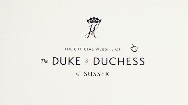 Stock photo of the home page of the official website of the Duke and Duchess of Sussex, www.SussexRoyal.com, displayed on a laptop screen. Picture date: Tuesday January 21, 2020. Photo credit should read: Isabel Infantes/EMPICS Entertainment.