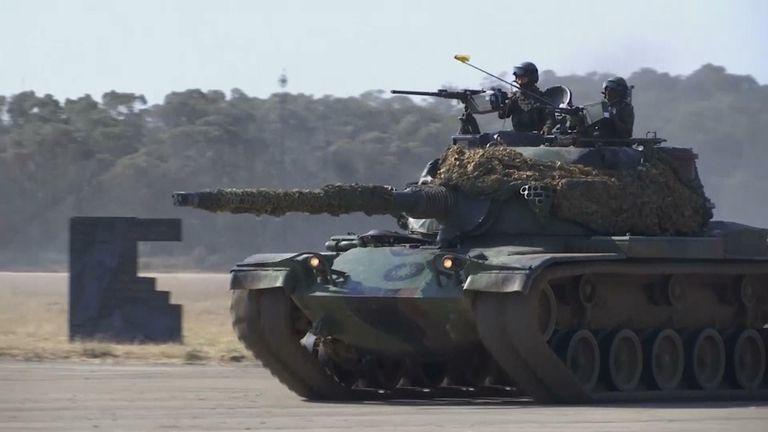 Taiwan military simulates drill repelling china attack