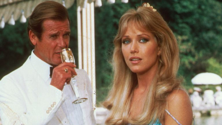 Tanya Roberts and Roger Moore in A View To A Kill. Pic: Danjaq/Eon/Ua/Kobal/Shutterstock
