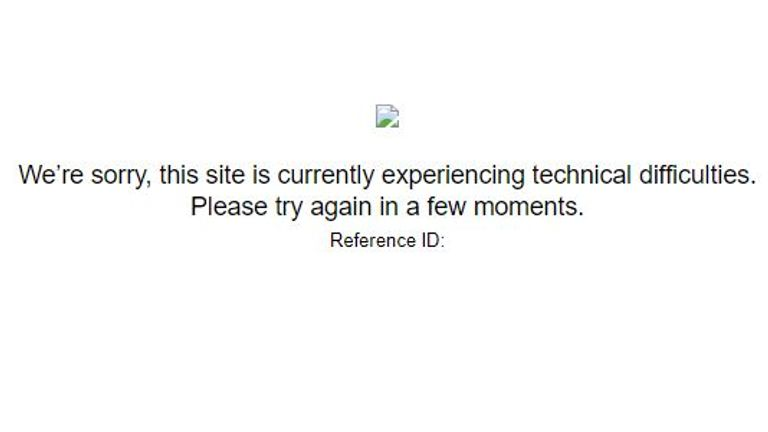 The message users saw after the US State Department website went down