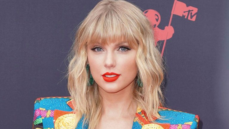 Taylor Swift at the 2019 MTV Video Music Awards held on August 26, 2019 at the Prudential Center in Newark, New Jersey, US. Pic: AP
