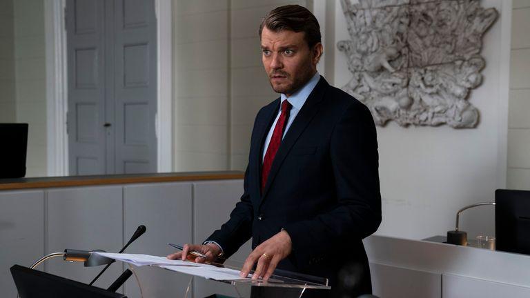 Jakob Buch-Jepsen (PILOU ASBAEK) in The Investigation. Pic: BBC / misofilm & outline film / Henrik Ohsten
