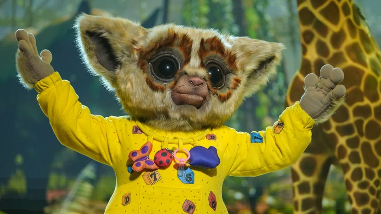 The Masked Singer contestant Bush Baby. Pic: ITV