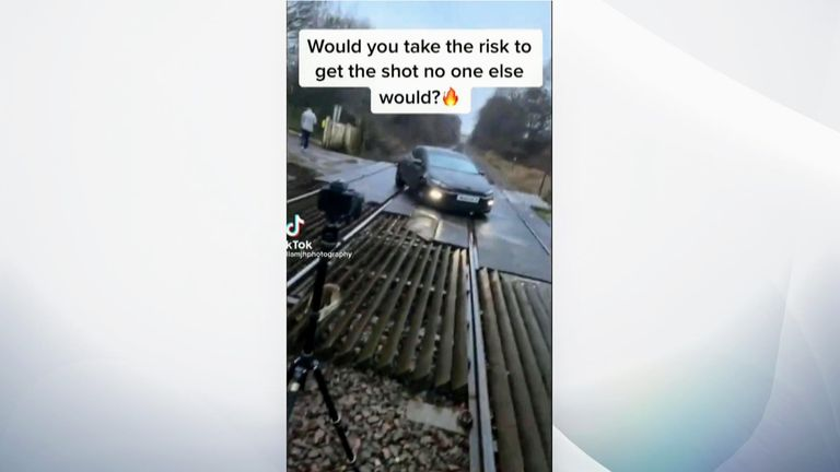 The video had the caption 'would you take risk to get the shot no one else would?'