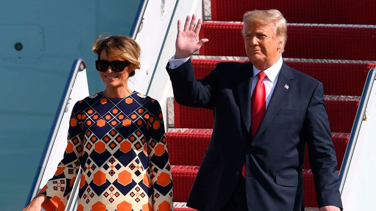 Donald Trump is now back in Florida following his stint in the White House. Pic: Associated Press