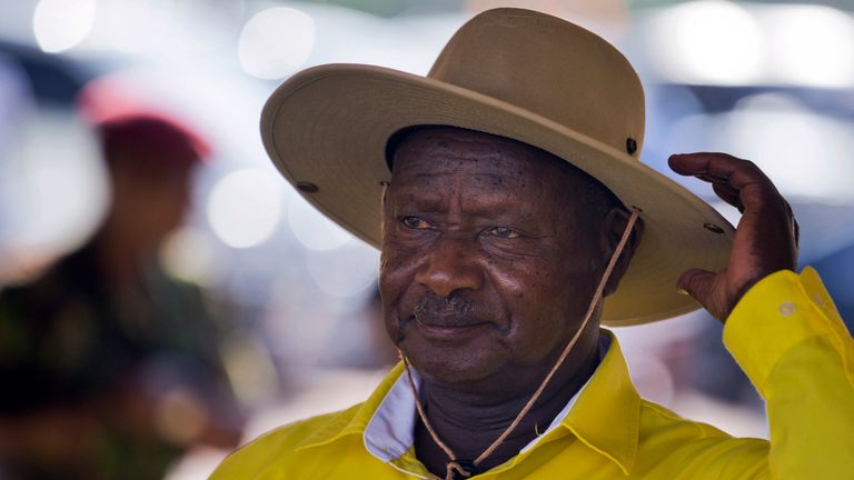 Yoweri Museveni has been in power since 1986. File pic