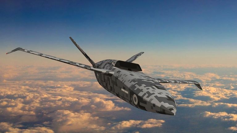 Image issued by the Ministry of Defence (MoD)  of unmanned combat aircraft nicknamed the 'loyal wingman'