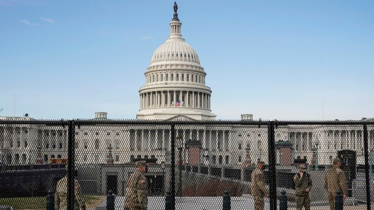Security has been ramped up at the Capitol building ahead of Joe Biden's inauguration