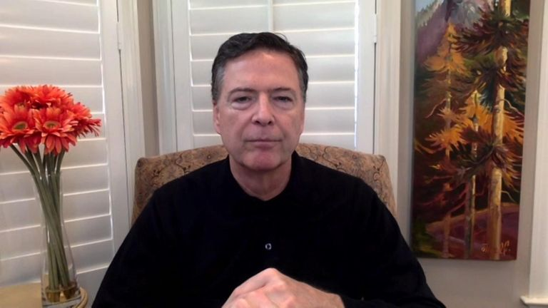 Talking to Sky's Sophy Ridge, former FBI director James Comey said he was sickened by the attack on the US capitol – and warned there could be more violence at the inauguration.