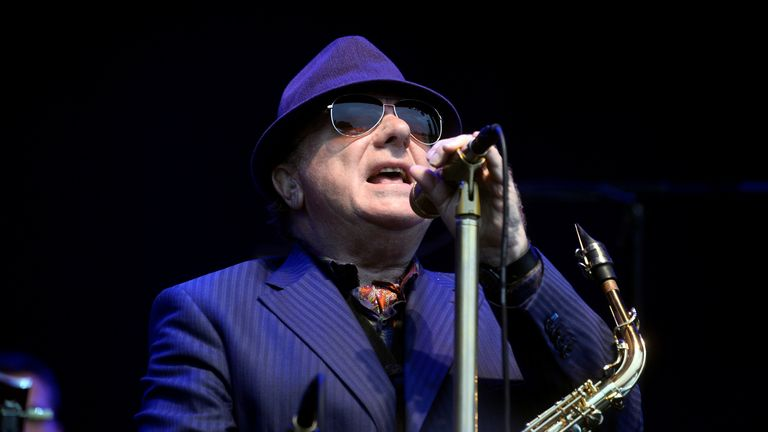 Northern Irish musician Van Morrison performs at the BBK Music Legends festival in Sondika, near Bilbao, northern Spain, June 2, 2017. REUTERS/Vincent West