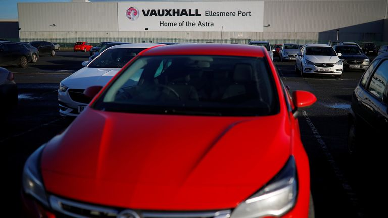 A general view of the Vauxhall car plant in Ellesmere Port, Britain, January 10, 2018