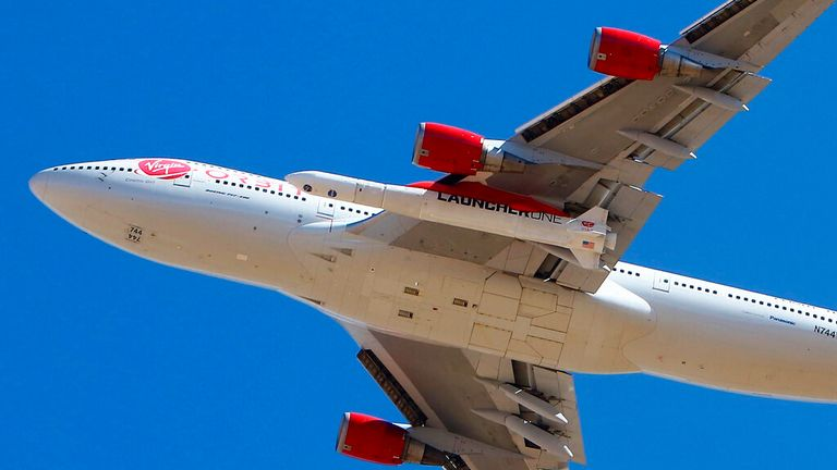 Virgin Orbit has successfully launched satellites for the first time. Pic: AP