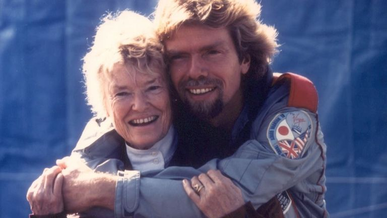 Richard Branson described his mother as having a 'zest for life'. Pic: Virgin