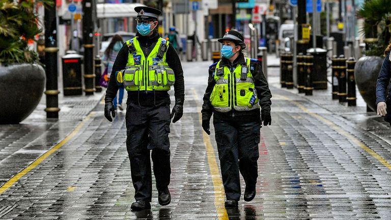 Police are patrolling Cardiff's central shopping areas